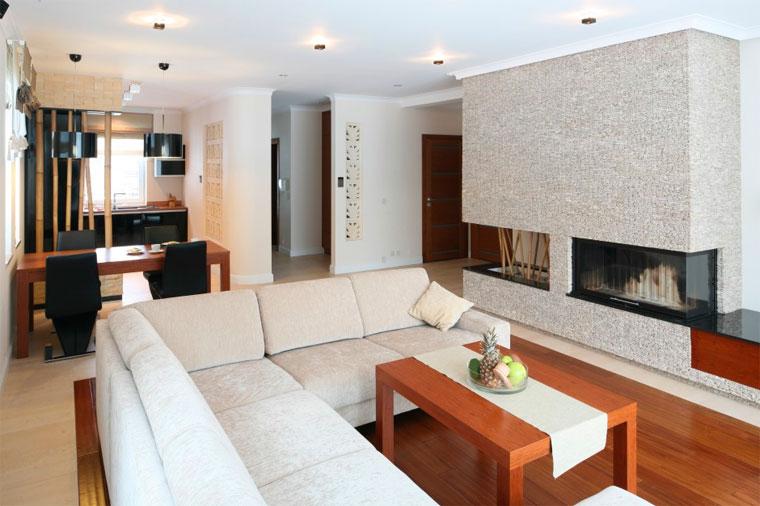 фото гостиной с угловым диваном