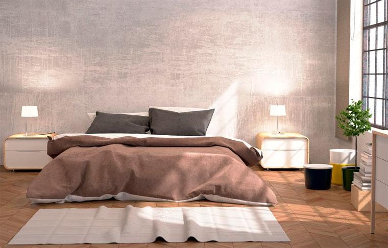 Кровать в центре