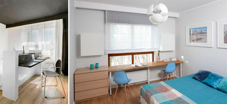 Как организовать рабочее место в спальне, фото