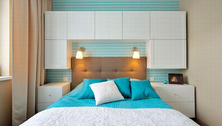 Спальня 12 метров, как расставить мебель – фото