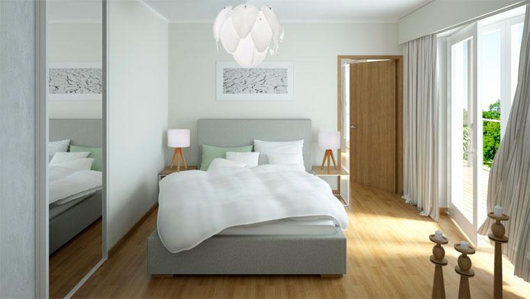 Как правильно расставить мебель в спальне – фото кровати у стены