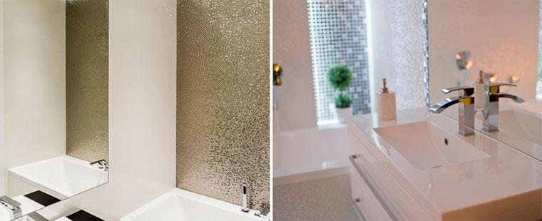 плитки с золотой или серебряной текстурой
