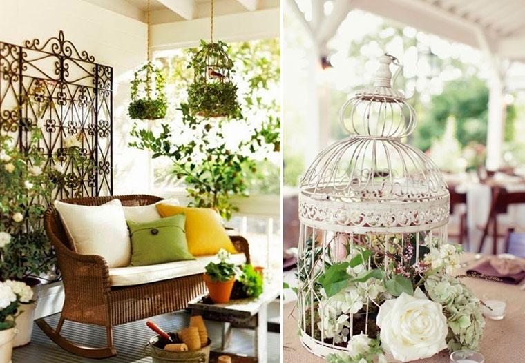 Кованая подставка для комнатных цветов «клетка для птиц», фото