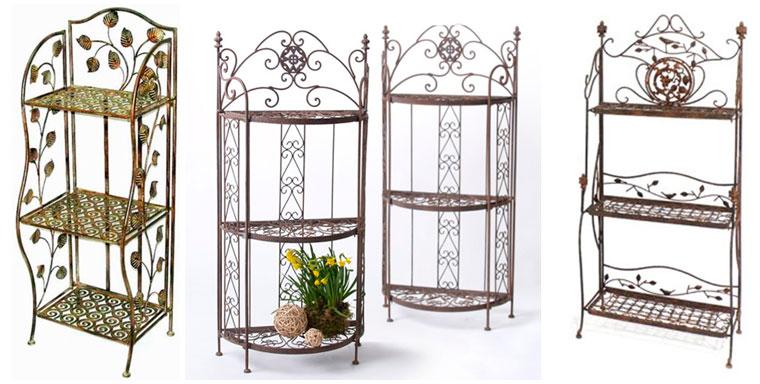 Кованая этажерка или стеллаж для цветов