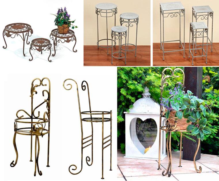 Кованые столики и стулья