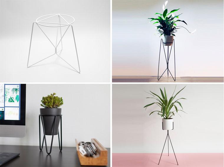 Металлические подставки для цветов в стиле минимализм, фото