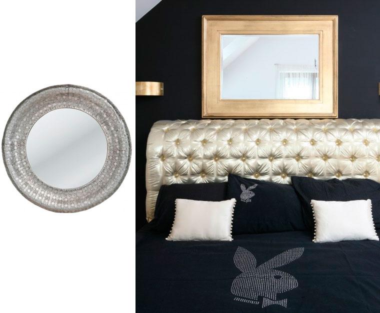 Спальня в серых тонах – дизайн в стиле гламур