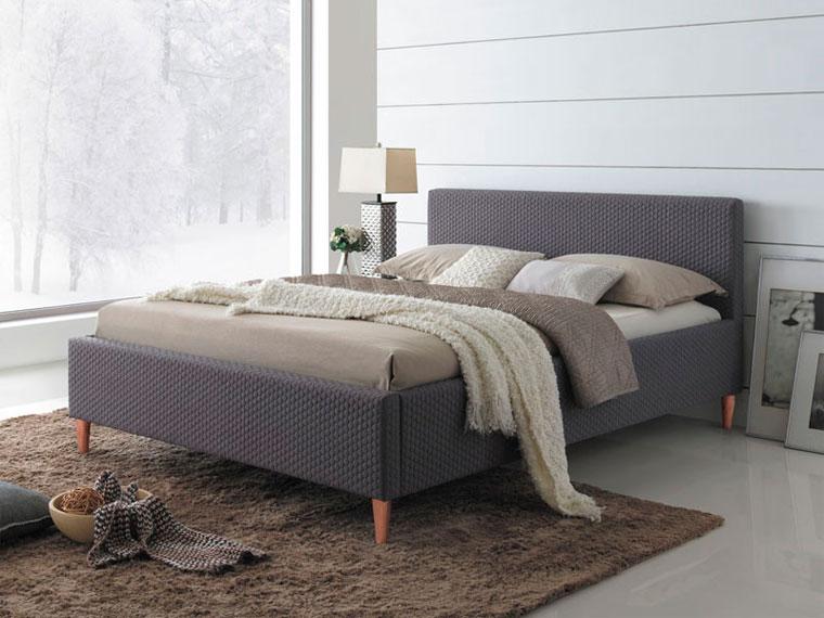 Темно-серая кровать