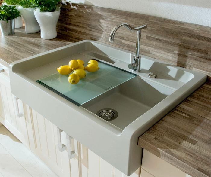 Кухонные смесители для мойки из искусственного камня, фото