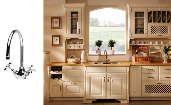 Двухрычажные кухонные смесители