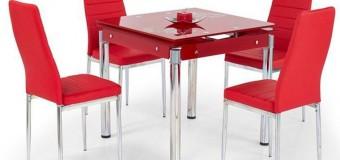 Кухонные стеклянные столы + фото