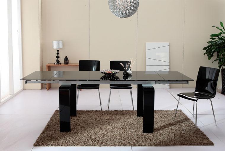 стол для кухни со стеклянной столешницей раскладной