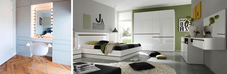 Современные туалетные столики с зеркалом для спальни, фото