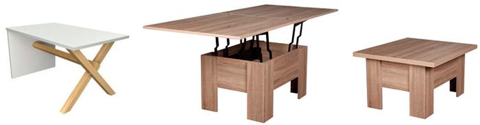 Деревянный журнальный стол-трансформер для гостиной, фото