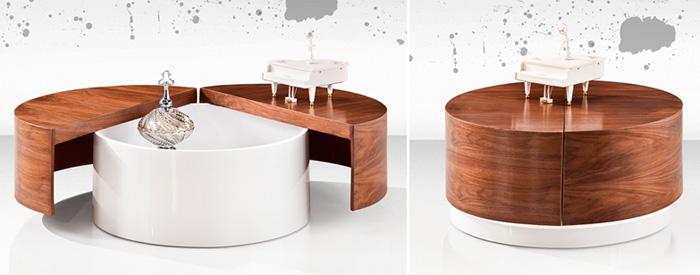 Элегантный круглый столик-трансформер, фото