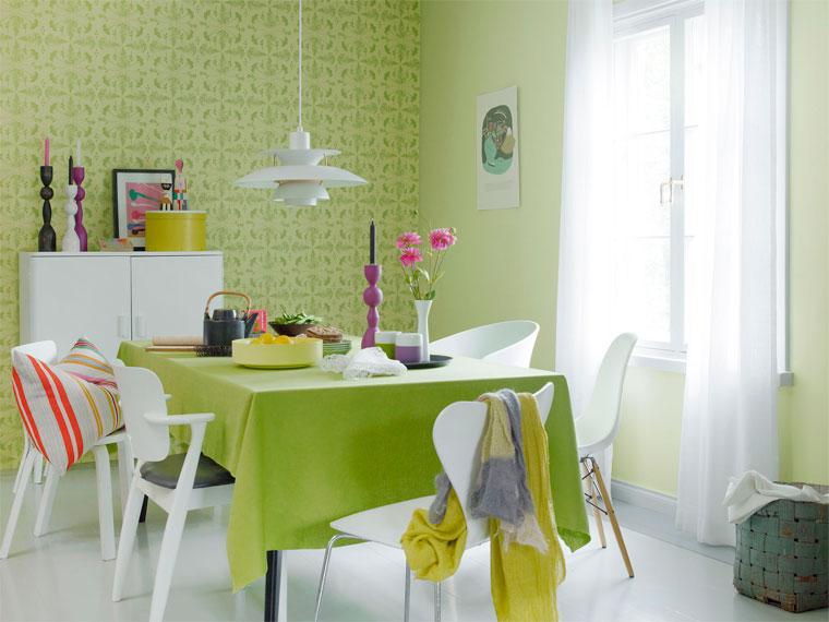 Зеленые стены в интерьере