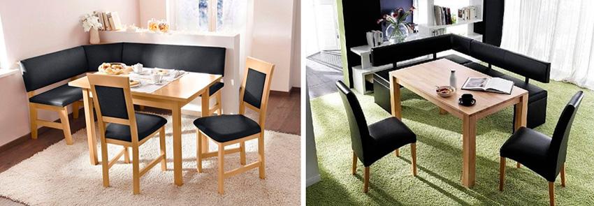 диванчик к прямоугольному или квадратному столу