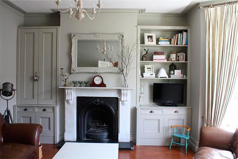 Камин или консоль – характерные элементы английского стиля