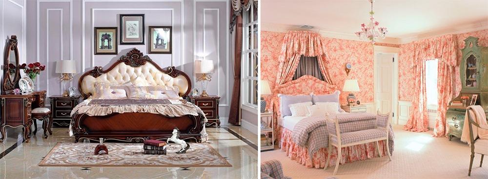 Интерьер спальни в английском стиле, фото