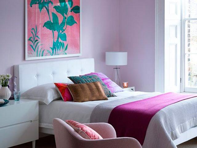 сочетание цветов с фиолетовым цветом в интерьере