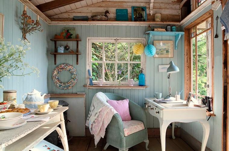 Стиль прованс и кухня-столовая в загородном доме, дизайн, фото