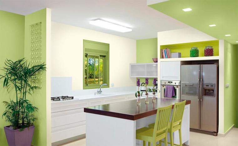 Дизайн кухонь в светло-зеленых тонах фото