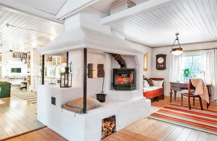 Скандинавская кухня-гостиная в загородном доме – дизайн, фото