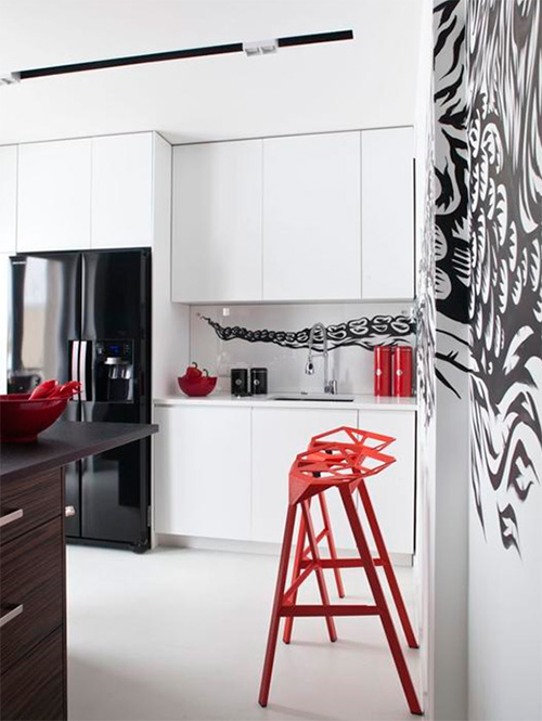 Дизайн маленькой кухни в светлых тонах