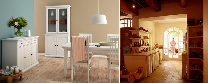 Провансальский дизайн кухни в загородном доме, фото