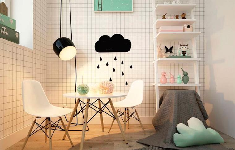 Детская комната в скандинавском стиле, фото
