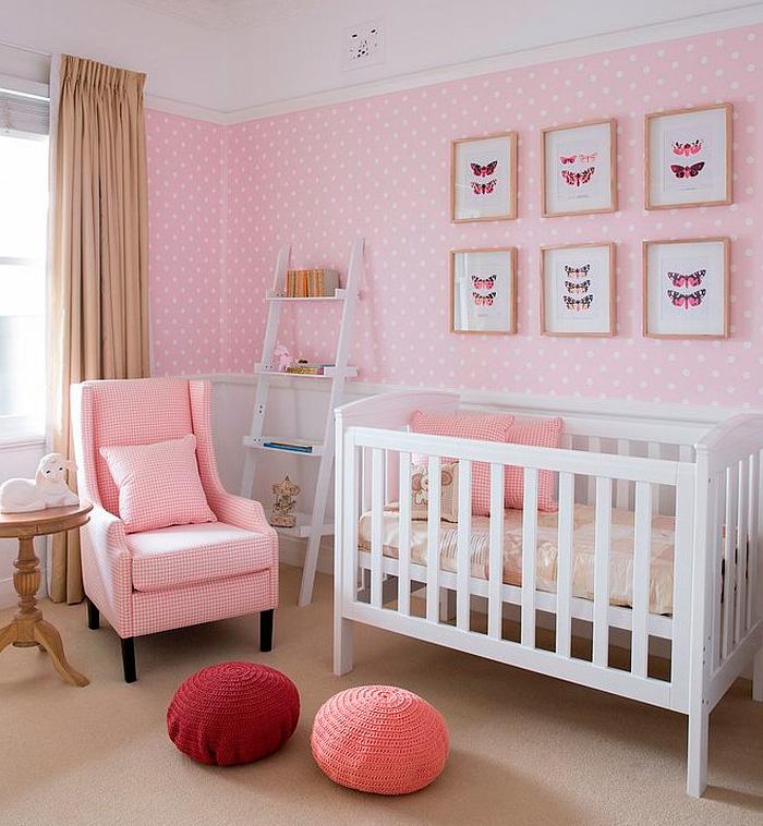 детская для девочки в розовом цвете