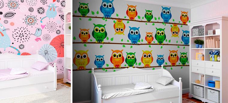 Веселые детские обои для стен для девочек, фото