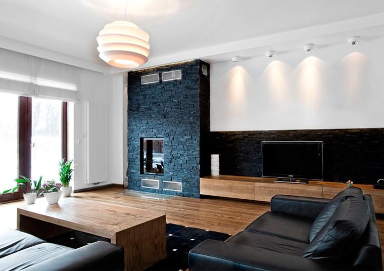 Отделка стен декоративным камнем в квартире, фото