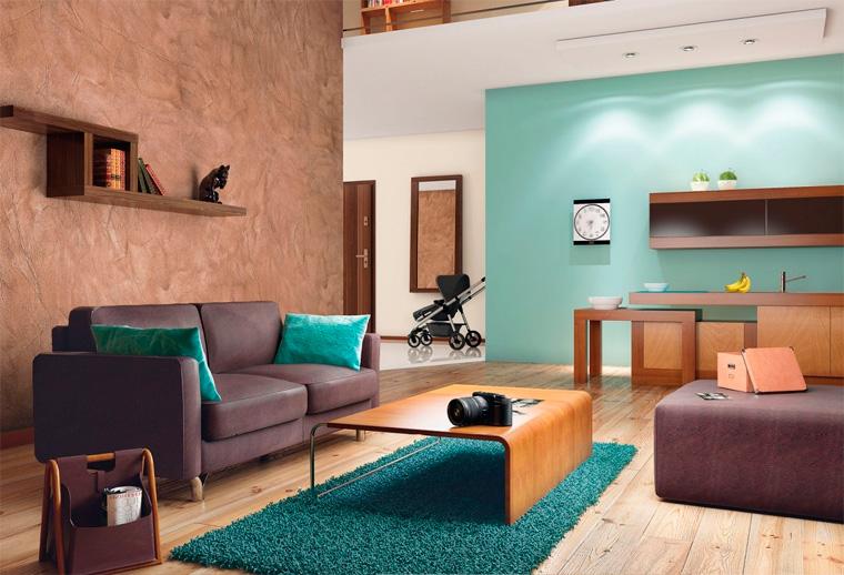 Отделка стен в квартире декоративной штукатуркой