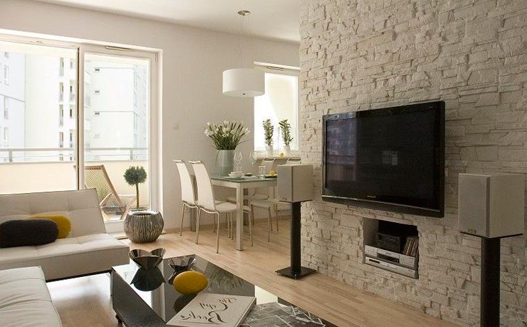 Отделка стен декоративным кирпичом – фото в квартире