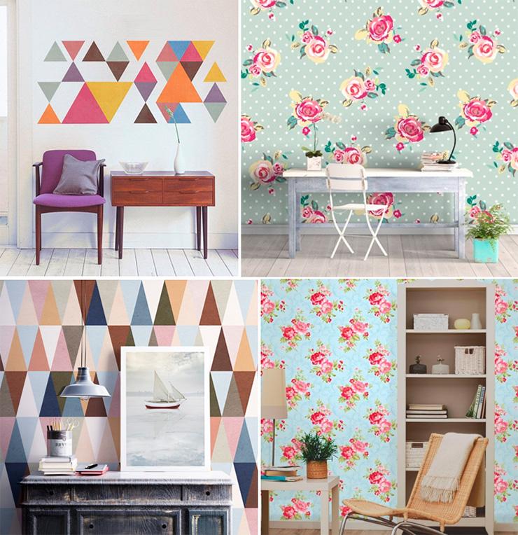 Цветы и геометрические узоры
