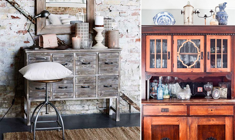 Мебель для гостиной в стиле ретро
