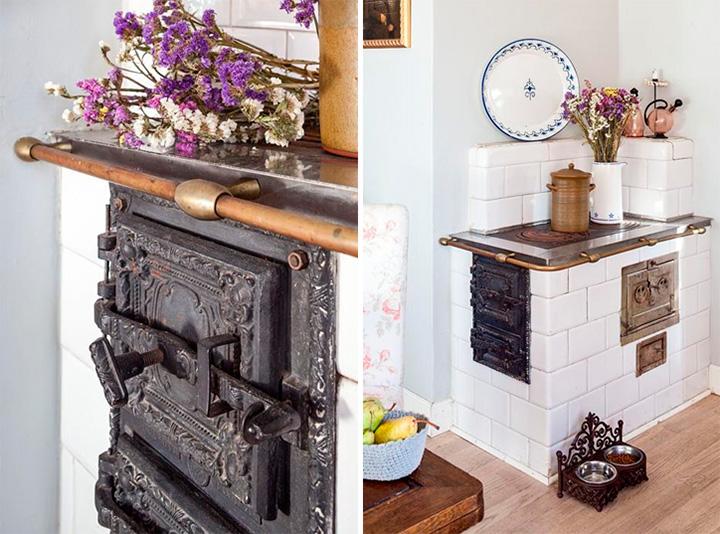 Интерьер кухни ретро-стиль