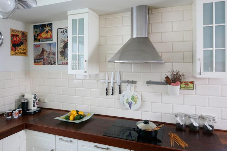 Кухня в стиле ретро, фото интерьеров
