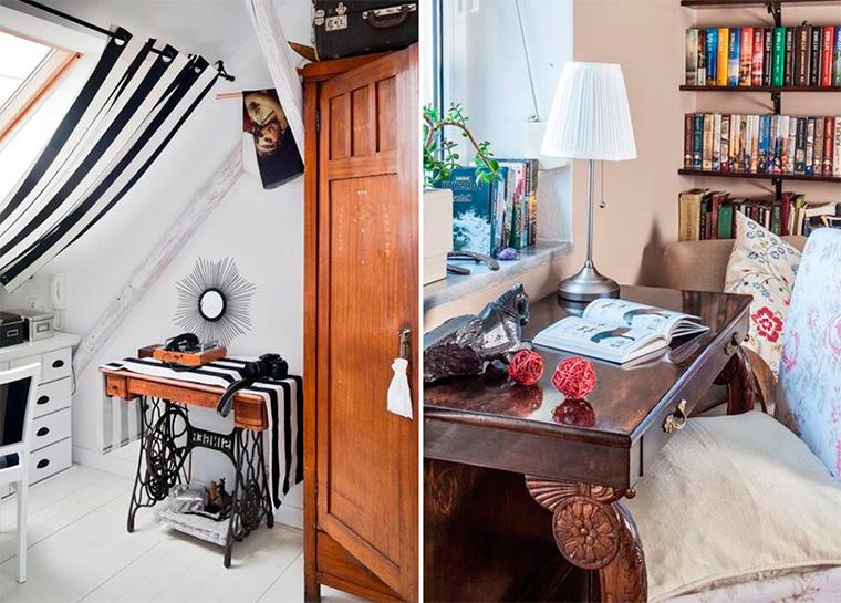 Спальня – дизайн интерьера, ретро стиль, фото