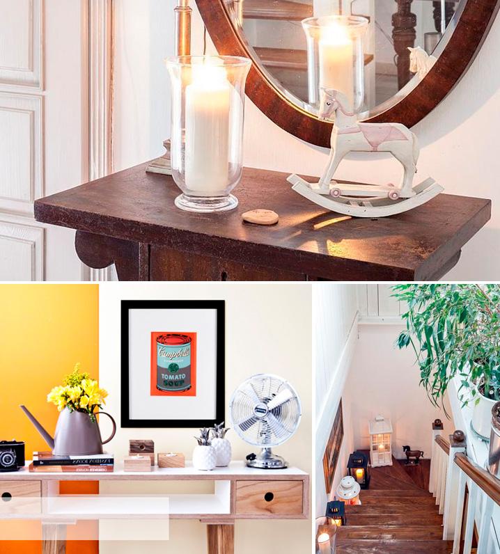 элементы декора интерьера в ретро-стиле
