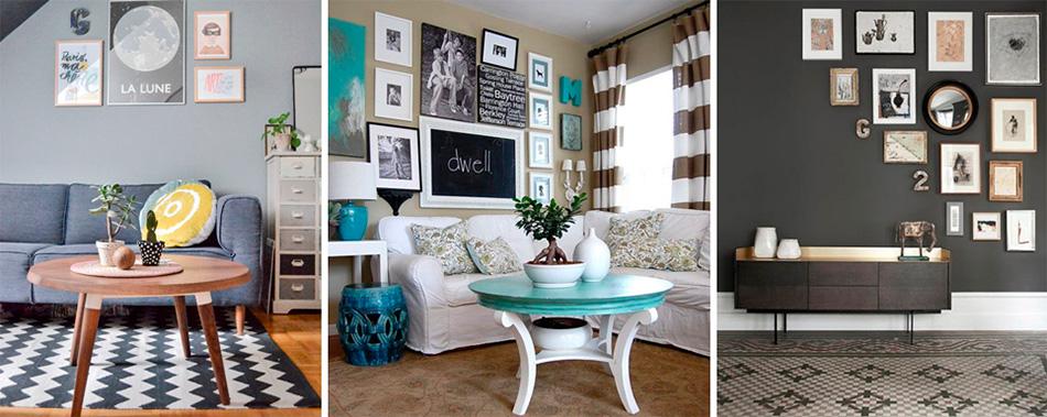 Серые ткани и аксессуары – важная часть гостиной