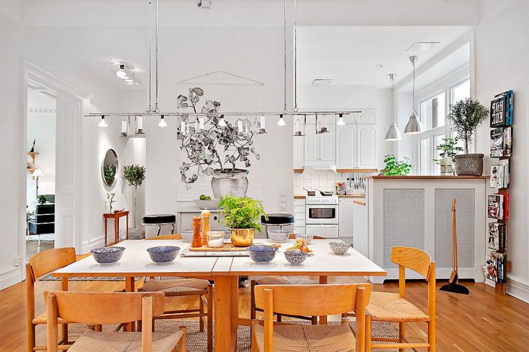 Скандинавский стиль в интерьере кухни