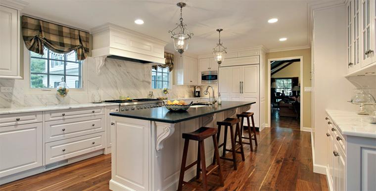 Мебель в интерьер кухни гостиной в скандинавском стиле