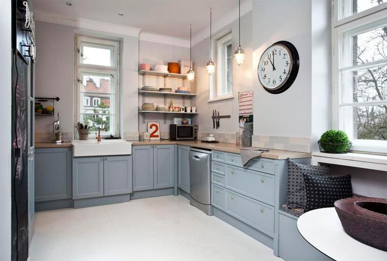 Серая кухня в интерьере, скандинавский стиль – фото