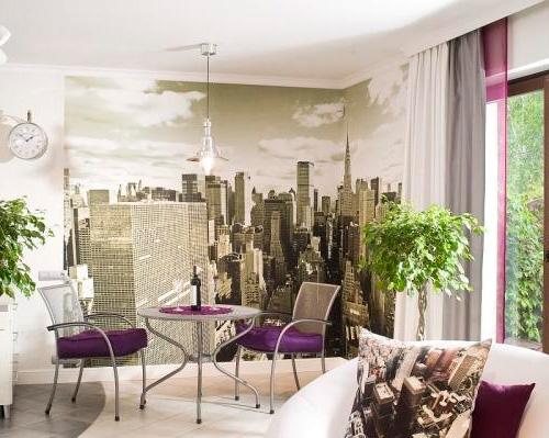 Стена с видом на Манхэттен