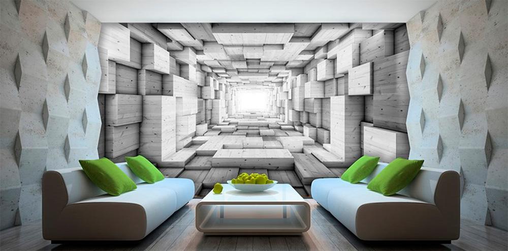 Абстрактные 3d фотообои, фото интерьеров