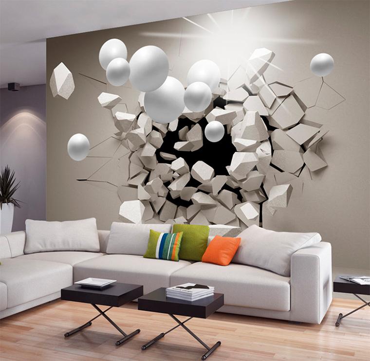 Фотообои с 3d эффектом на стену