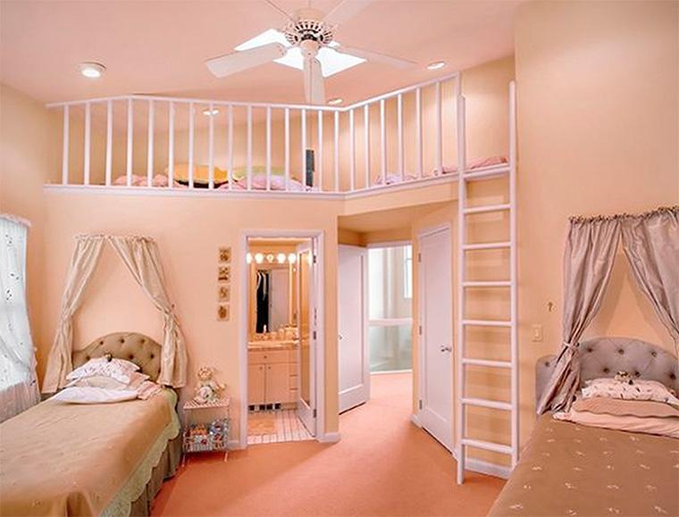 Дизайн детской комнаты для двух девочек – фото интерьеров