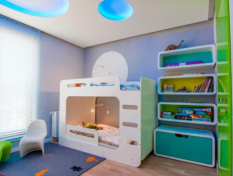 Дизайн детской комнаты для двух мальчиков – фото